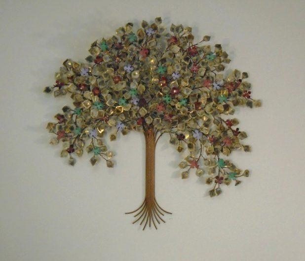 Wall Ideas : Wood And Metal Wall Art Metal Tree Wall Art With Throughout Oak Tree Large Metal Wall Art (Image 20 of 20)