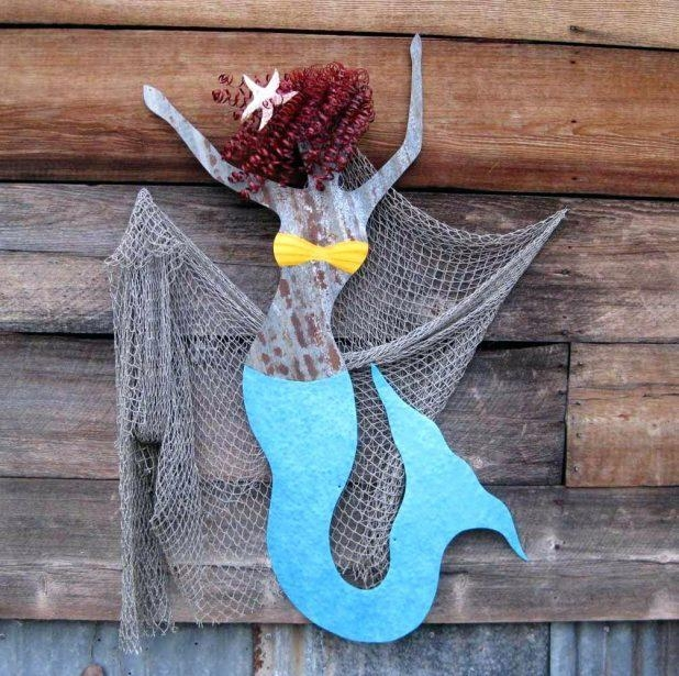 Wall Ideas : Wooden Mermaid Wall Art Mermaid Wood Wall Art Large Inside Wooden Mermaid Wall Art (View 15 of 20)