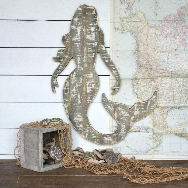 Wall Ideas: Wooden Mermaid Wall Decor (Image 18 of 20)