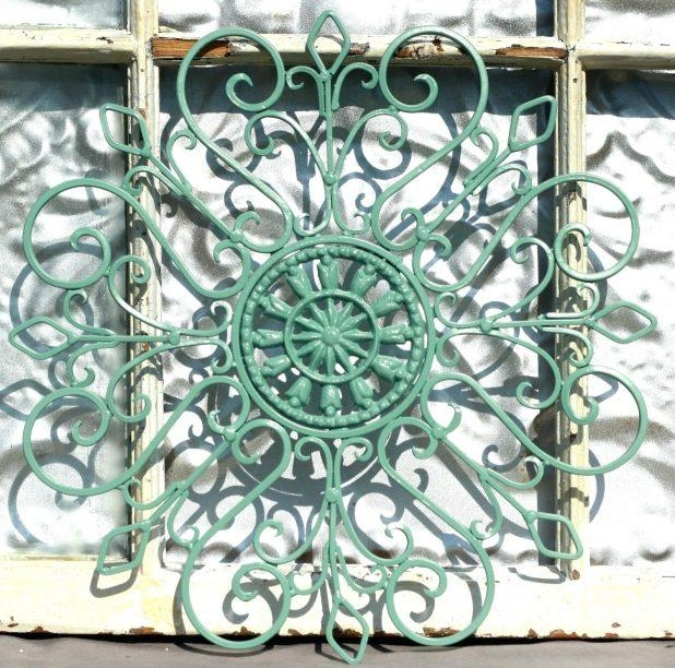 Wall Ideas : Wrought Iron Wall Deco Fleur De Lis Shabby Chic Decor Regarding Outdoor Wrought Iron Wall Art (Image 18 of 20)