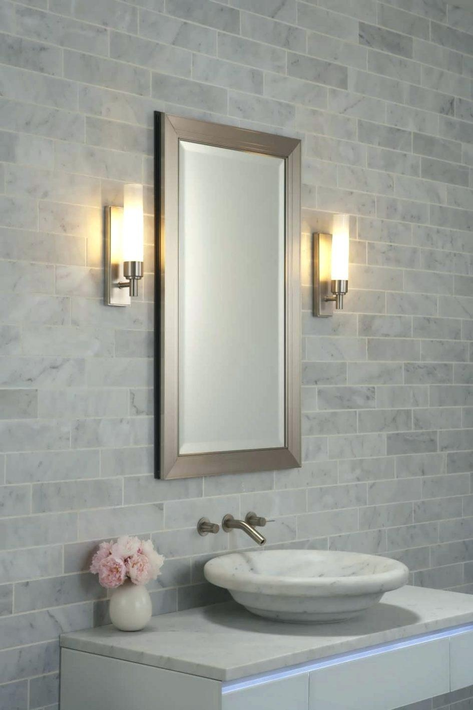 Wall Mirrors ~ Frameless Bathroom Wall Mirrors 36X60 Inch Within Safety Mirrors For Bathrooms (View 11 of 20)