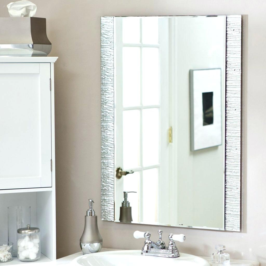Wall Mirrors ~ No Frame Wall Mirrors Wall Mirror No Frame 61 Pertaining To No Frame Wall Mirrors (Image 19 of 20)