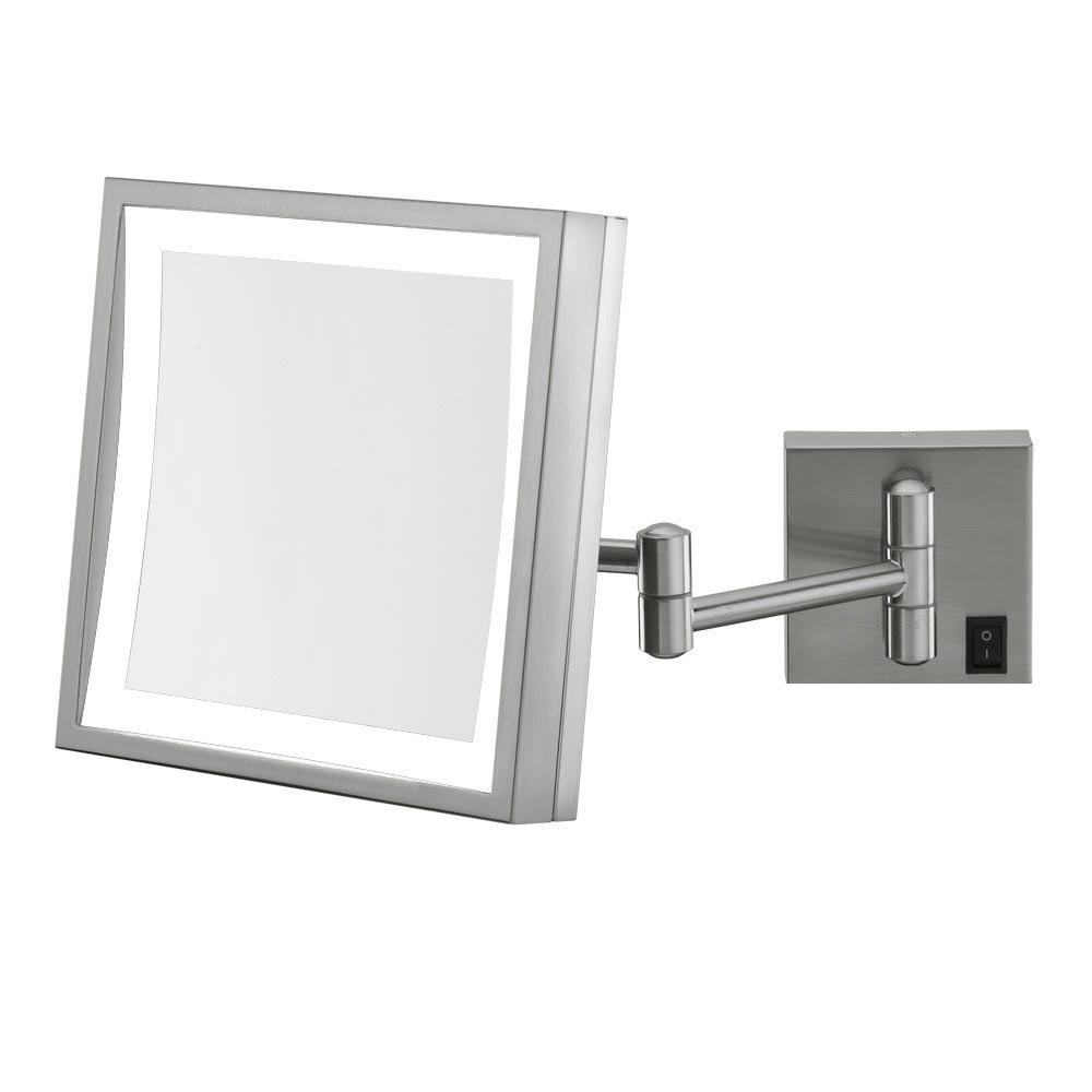 Wall Mounted Makeup Mirror – Square 3X In Wall Mirrors Intended For Wall Mounted Lighted Makeup Mirrors (Image 20 of 20)