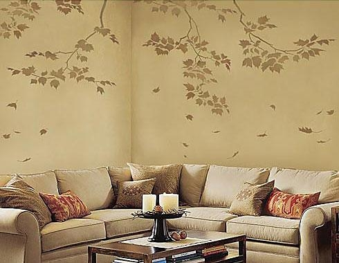 Wall Stencils, Stencil Designs For Easy Wall Painting & Decor Throughout Stencil Wall Art (Image 19 of 20)