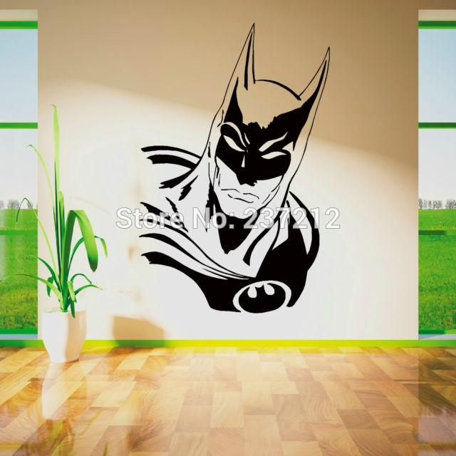 Wall Sticker Picture – More Detailed Picture About Batman Within Superhero Wall Art Stickers (Image 20 of 20)
