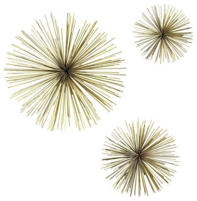 Wallflowers Wall Art, Set Of 3 – Contemporary – Wall Sculptures Regarding Wall Art Sets Of  (Image 19 of 20)