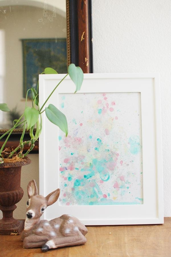 Watercolor Bubble Art – 7 Diy Wall Art Tutorials  Diy With Diy Watercolor Wall Art (Image 20 of 20)
