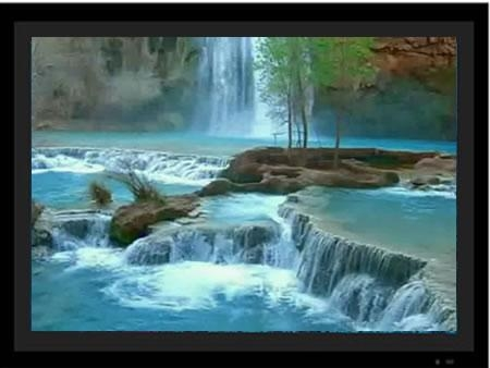 Waterfalls Motion Picture Frame 1 – Waterfalls Photo Frame 1 Movie Intended For Moving Waterfall Wall Art (Image 20 of 20)