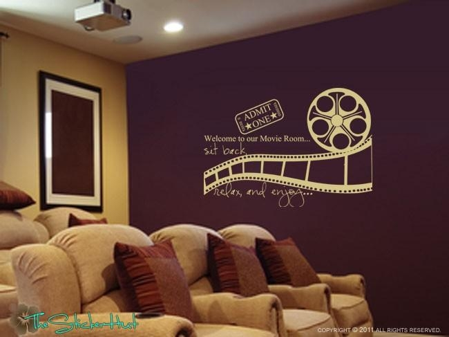 Welcome To Our Movie Room Sit Back Relax Enjoy Decal Vinyl Pertaining To Movie Themed Wall Art (View 5 of 20)