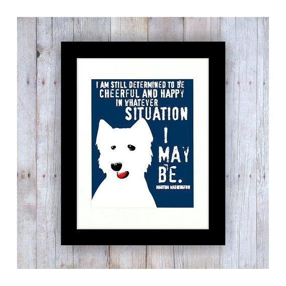 West Highland Terrier Westie Dog Westie Art Westie Gifts Within Westie Wall Art (View 18 of 20)