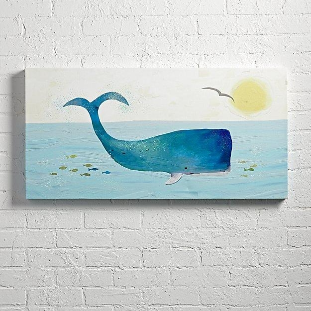 Whale Wall Art | The Land Of Nod Regarding Land Of Nod Wall Art (Image 19 of 20)