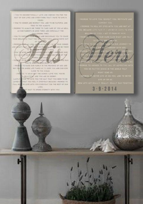 What A Great Way To Display Your Wedding Vows (Image 20 of 20)