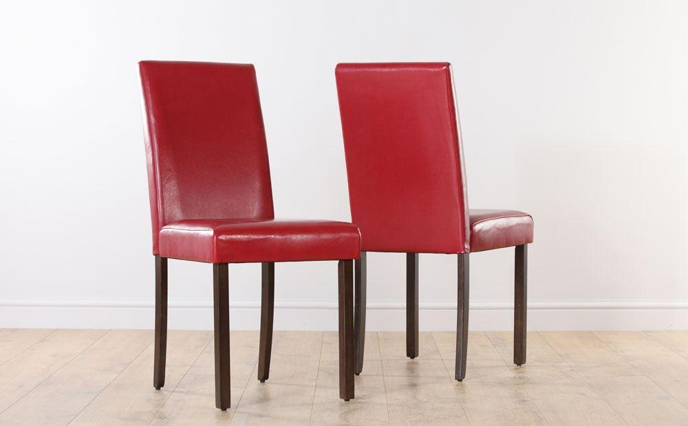 Which Furniture Colors Your Red Leather Dining Room Chairs Will Intended For Red Leather Dining Chairs (Image 20 of 20)