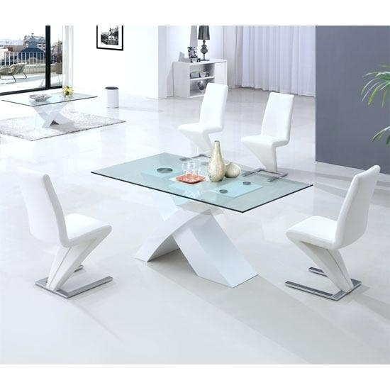 White And Glass Dining Table – Mitventures (Image 18 of 20)