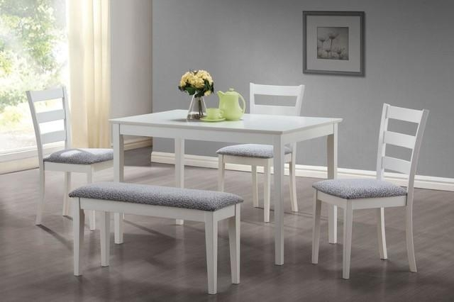 White Dining Set – Home Decoration Trans For White Dining Sets (Image 17 of 20)