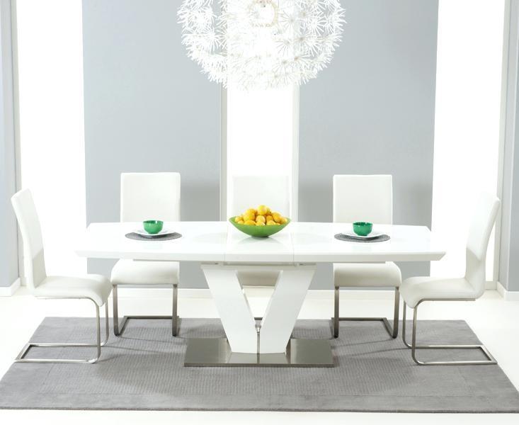 White Dining Table 6 Chairs – Zagons (Image 15 of 20)