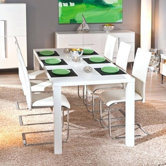 White Dining Table 6 Chairs – Zagons (Image 17 of 20)