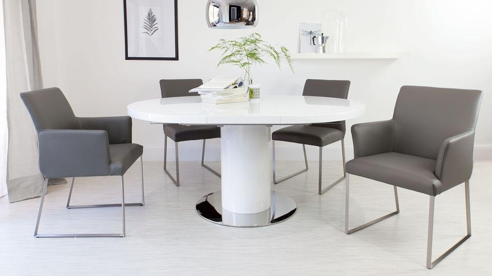 White Dining Table. Tdc Dining Table Lighting (Image 14 of 20)