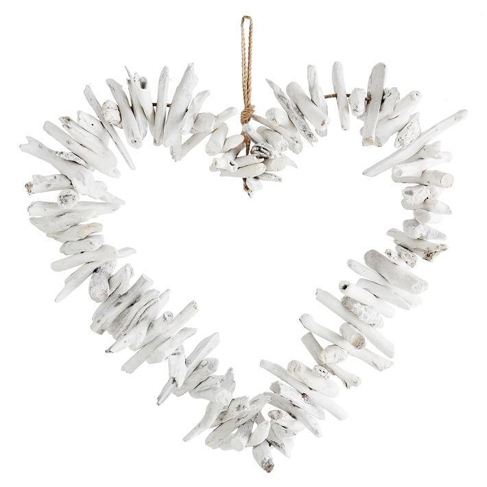 White Driftwood Heart Wall Decor Within Driftwood Heart Wall Art (Image 19 of 20)