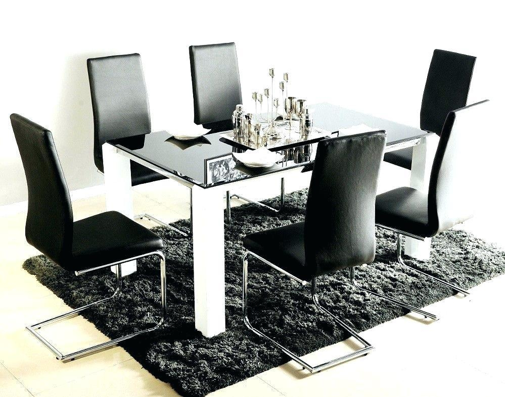 White Glass Dining Table And 6 Chairs – Mitventures (Image 19 of 20)