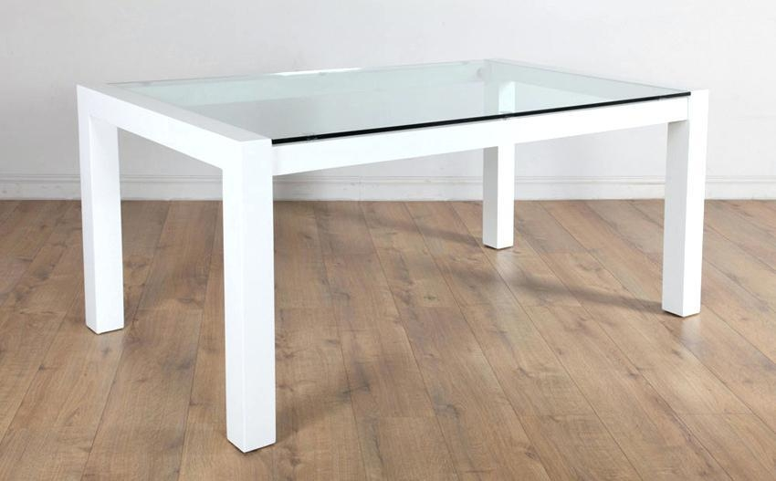 White Gloss And Glass Dining Table – Mitventures (View 9 of 20)