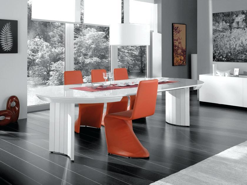 White Gloss Dining Table Extending – Mitventures (Image 19 of 20)