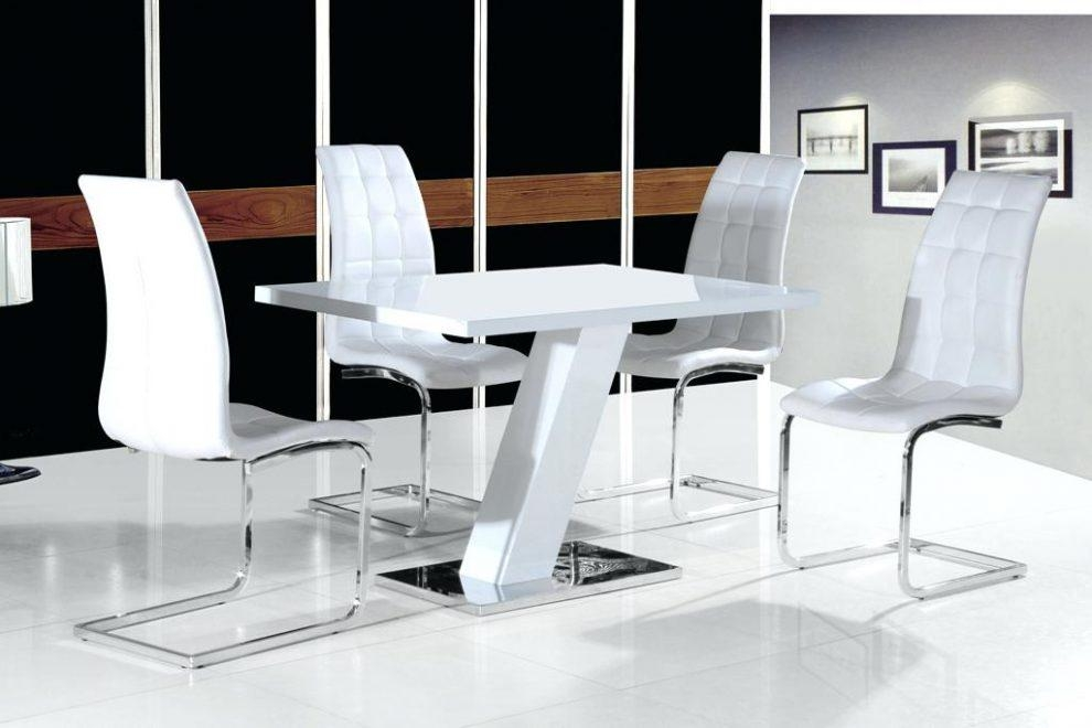 White Gloss Dining Table – Mitventures (Image 18 of 20)