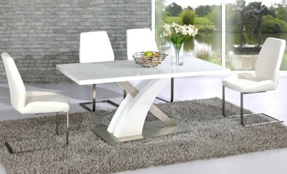 White Gloss Dining Table – Mitventures (View 19 of 20)