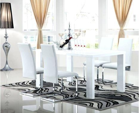 White Gloss Dining Table – Mitventures (Image 17 of 20)