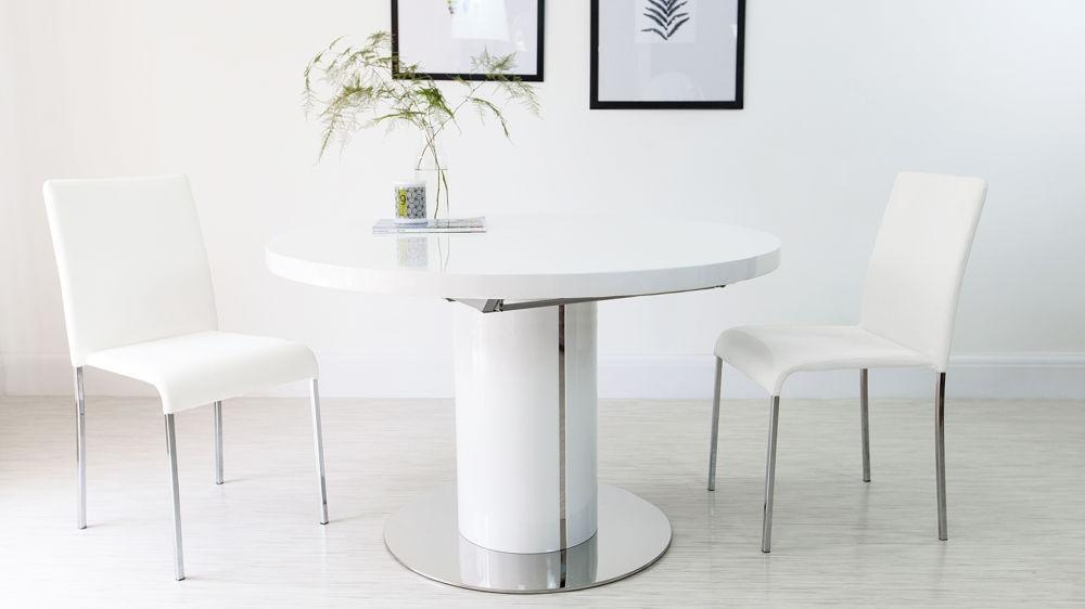 White Gloss Round Extending Dining Table – Starrkingschool For Best And Newest White Gloss Round Extending Dining Tables (Image 16 of 20)