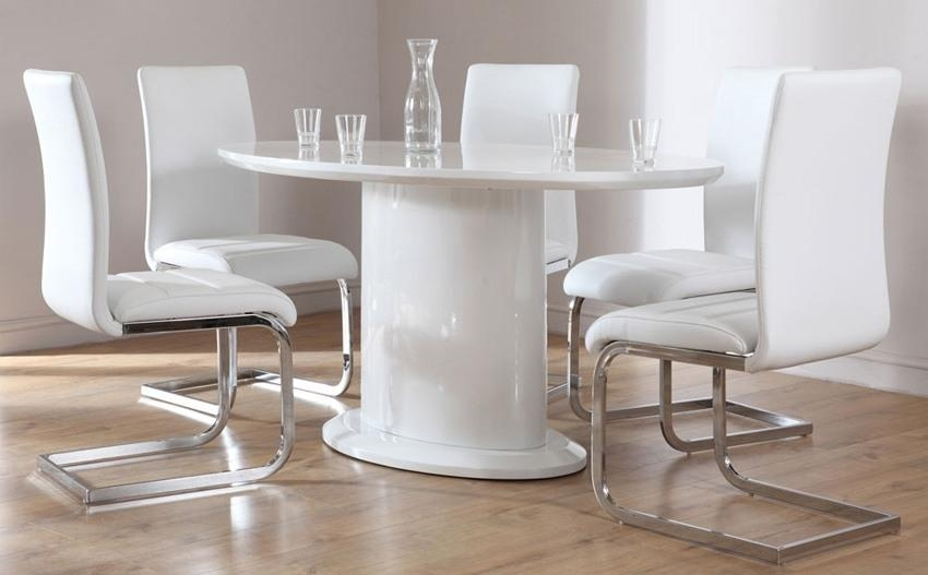 White Hi Gloss Dining Table – Warehouse Media Throughout White High Gloss Dining Tables And 4 Chairs (Image 19 of 20)