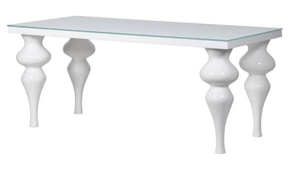 White High Gloss Contemporary Furniture Collection Pertaining To Current Large White Gloss Dining Tables (Image 20 of 20)
