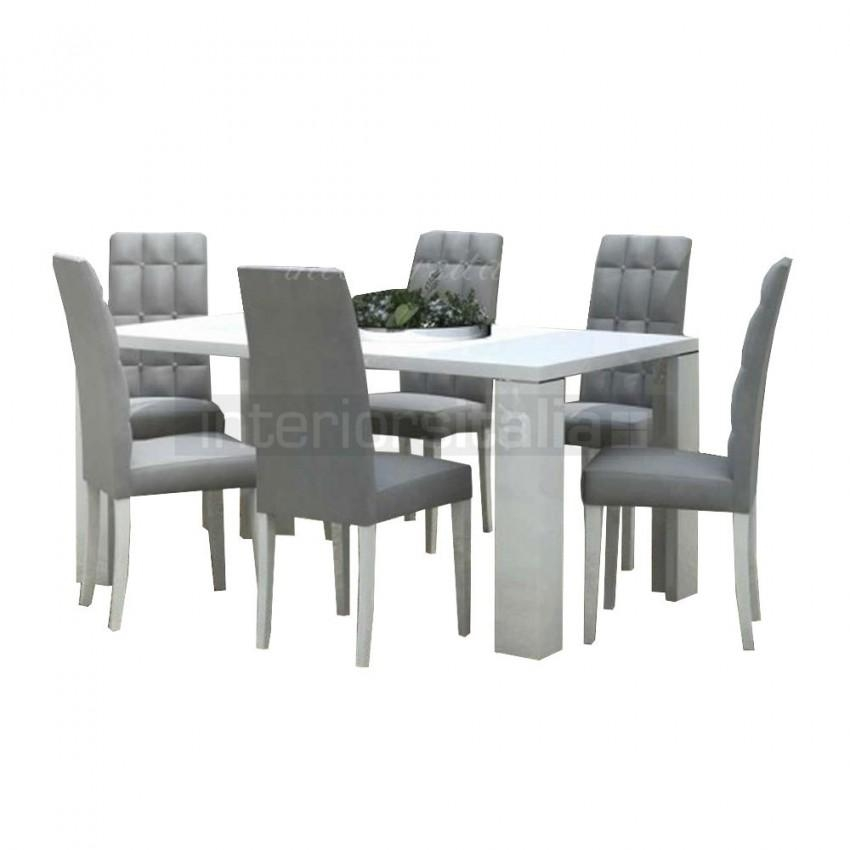 White High Gloss Dining Set | Elegance White | On Sale Intended For Gloss Dining Set (Image 17 of 20)