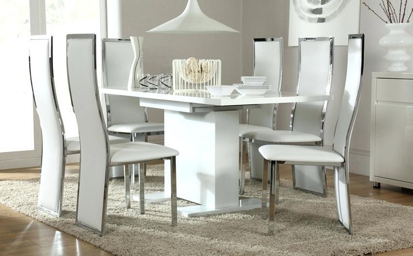 White High Gloss Dining Table And 4 Chairs White High Gloss Dining Inside White High Gloss Dining Tables 6 Chairs (View 9 of 20)