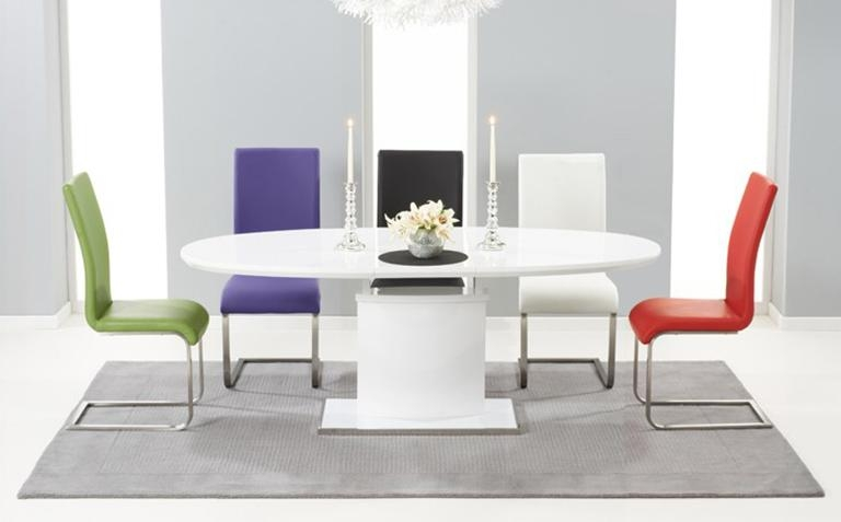 White High Gloss Dining Table Cool On Folding Dining Table – Dubsquad In Most Recent White High Gloss Oval Dining Tables (Image 17 of 20)