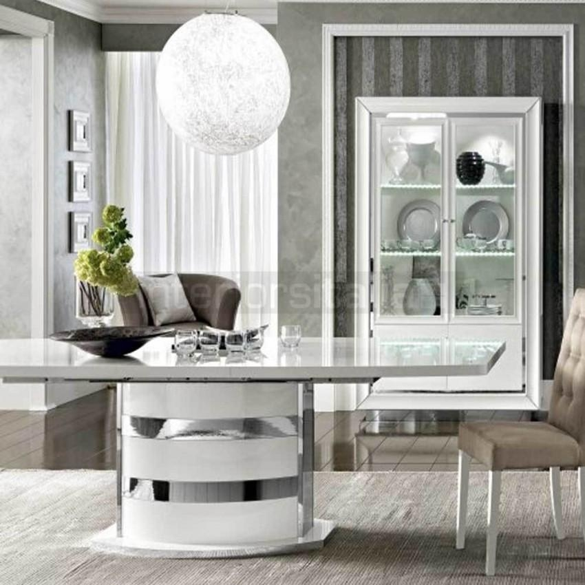 White High Gloss Dining Table | Dama Bianca | Sale Regarding Most Recently Released Hi Gloss Dining Tables (Image 19 of 20)
