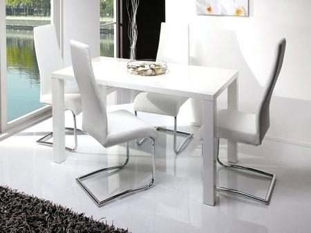 White High Gloss Dining Table – Mitventures (Image 18 of 20)
