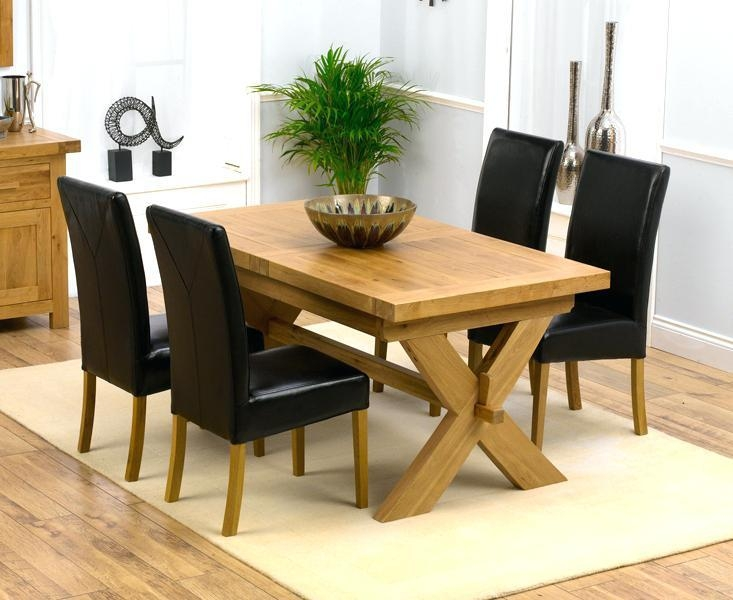 White High Gloss Extending Dining Table And Chairs Ebay Oak Intended For Most Popular Oak Extendable Dining Tables And Chairs (Image 20 of 20)