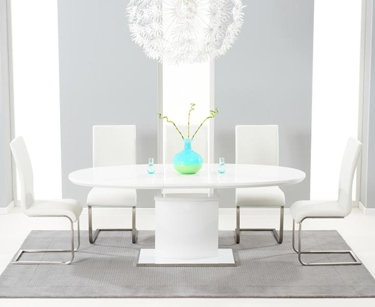 White High Gloss Oval Dining Table | | Master Home Decor Throughout 2018 Oval White High Gloss Dining Tables (Image 19 of 20)