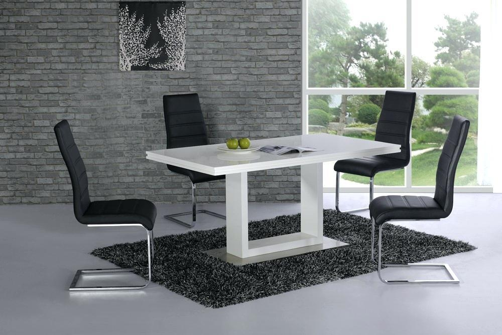 White High Gloss Round Dining Table And Chairs Cheap White High With Most Popular Cheap White High Gloss Dining Tables (Image 20 of 20)