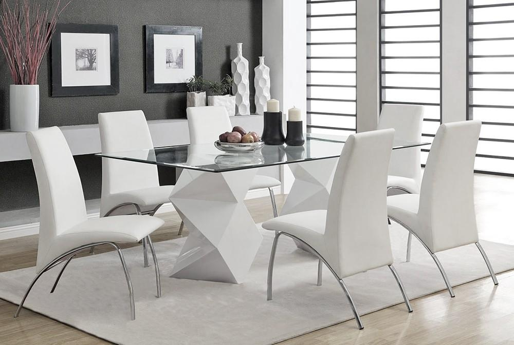 White Lacquer Dining Table In 2017 White Glass Dining Tables And Chairs (Image 20 of 20)