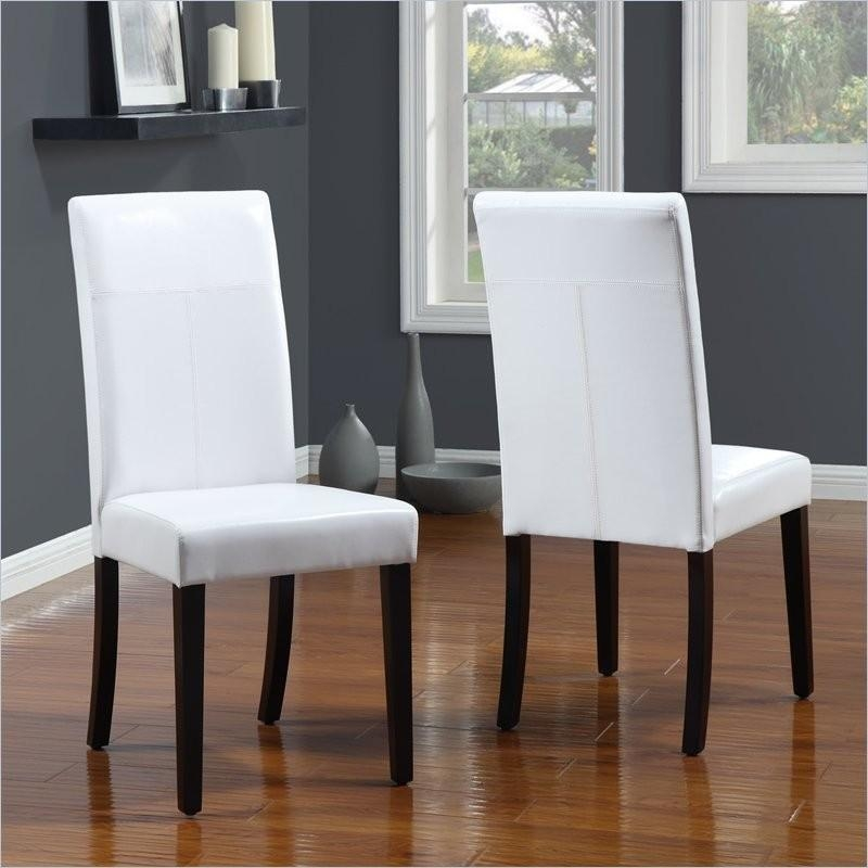 White Leather Dining Room Chairs Other White Dining Room Chairs In Most Recently Released White Leather Dining Room Chairs (View 3 of 20)