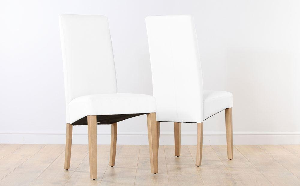 White Leather Kitchen Chairs : Decorating Kitchen With White Inside White Leather Dining Chairs (Image 19 of 20)