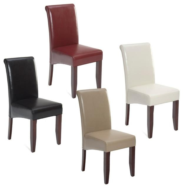 White Leather Parson Dining Chairs – Insurserviceonline With Regard To Most Recent Ivory Leather Dining Chairs (View 19 of 20)
