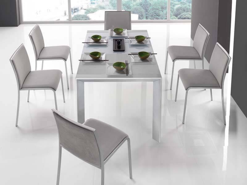 White Modern Dining Room Sets | Gen4Congress In Most Up To Date Contemporary Dining Room Chairs (Image 19 of 20)