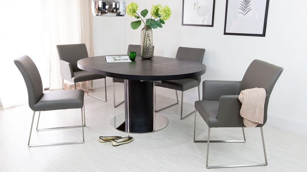 White Round Dining Table And Chairs Uk – Starrkingschool Within Most Recently Released Black Extendable Dining Tables And Chairs (Image 20 of 20)