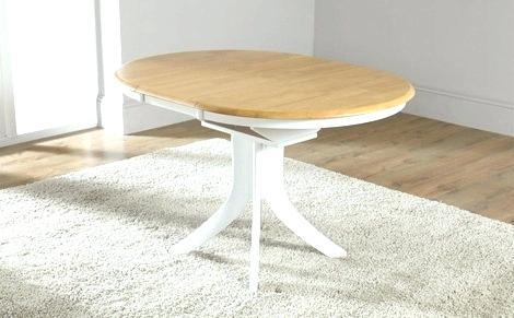 White Round Extending Dining Table And Chairs Circular Extending Intended For 2017 White Round Extendable Dining Tables (Image 19 of 20)