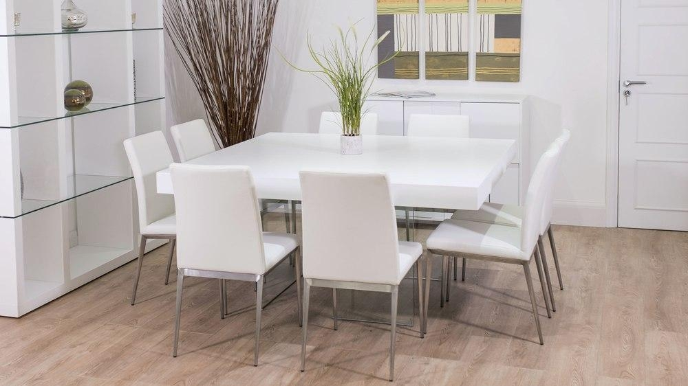 White Square Dining Tables – Insurserviceonline Regarding Best And Newest White Dining Tables 8 Seater (Image 20 of 20)