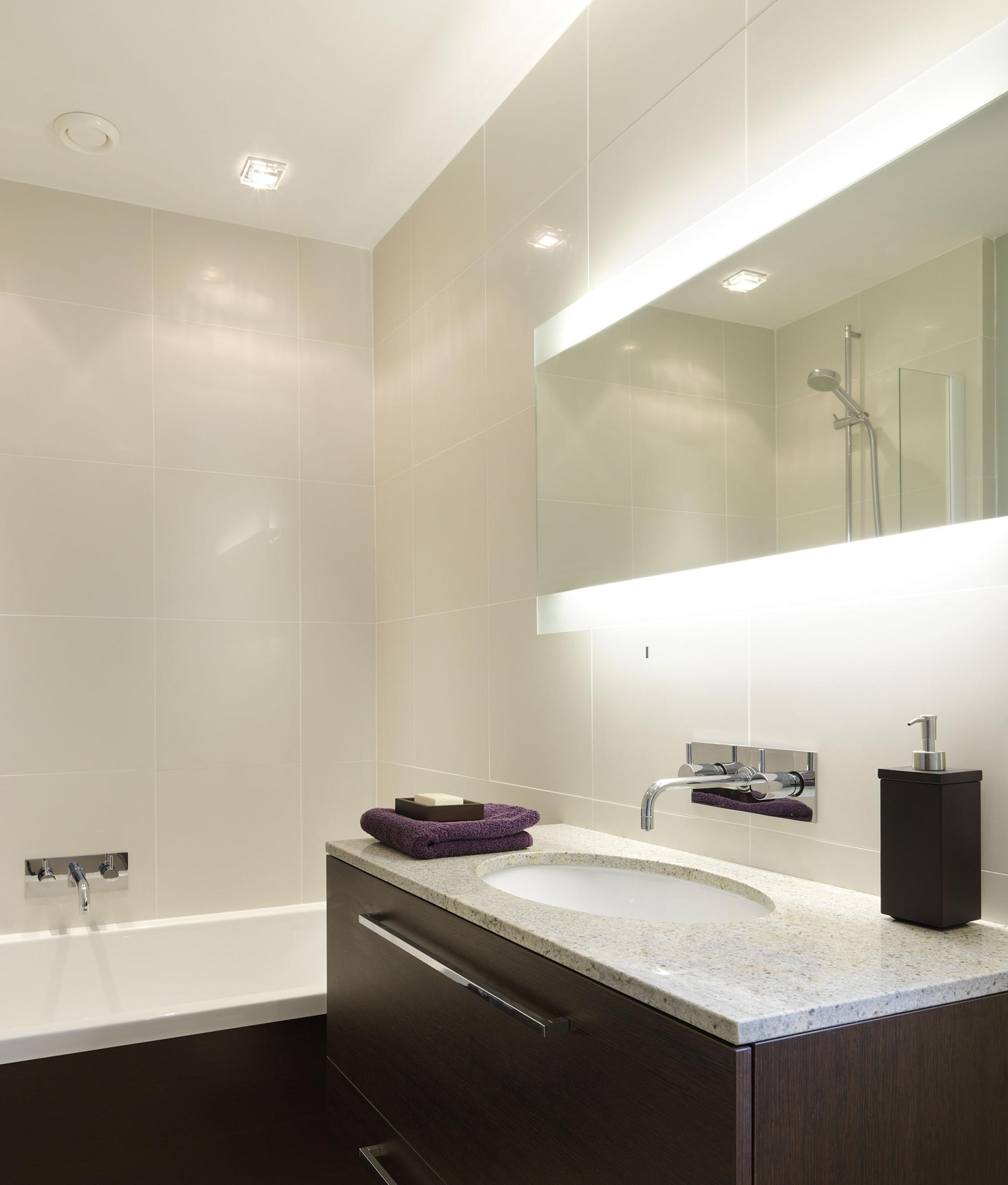 Wide And Tall Illuminated Bathroom Mirror With Backlit Effect Inside Extra Wide Bathroom Mirrors (Image 18 of 20)