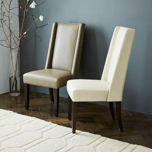 Willoughby Leather Dining Chair | West Elm In Recent Ivory Leather Dining Chairs (View 10 of 20)